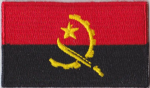 Angola Embroidered Flag Patch, style 04